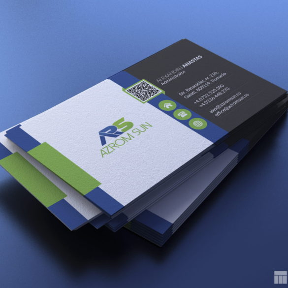Web Design Bucuresti - Azrom Sun Business Card
