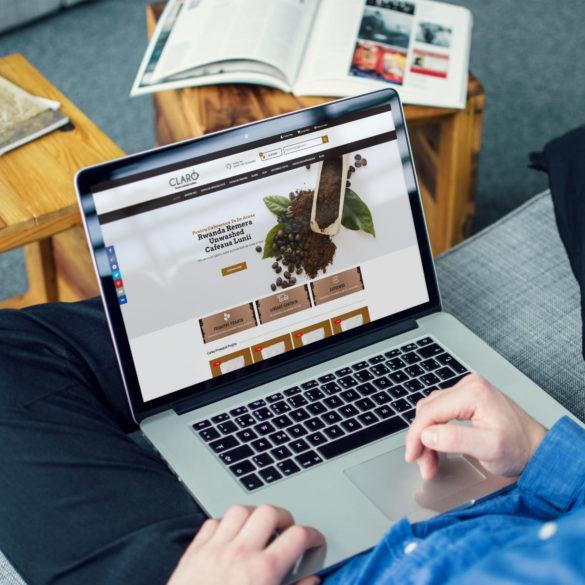 Web Design Bucuresti - Claro Cafe (clarocafe.ro)
